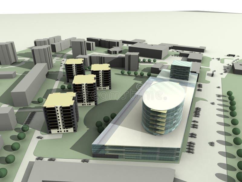 Download Modern living houses stock illustration. Image of concept - 12166504