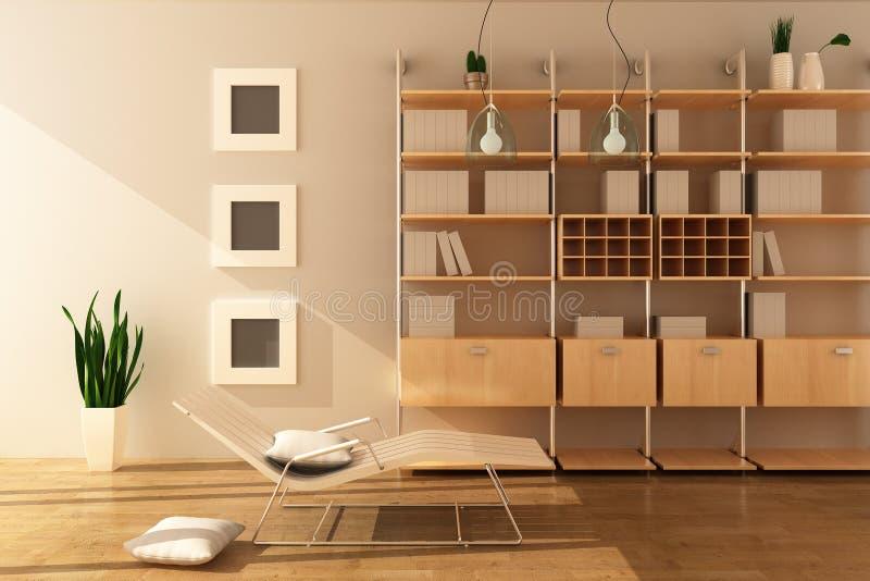 Modern living room stock illustration