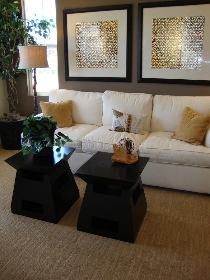 Modern Living Room royalty free stock photography