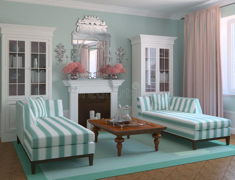 Modern living-room stock illustration