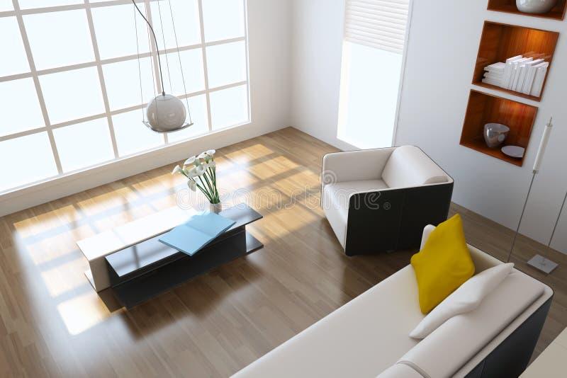 Modern living room vector illustration