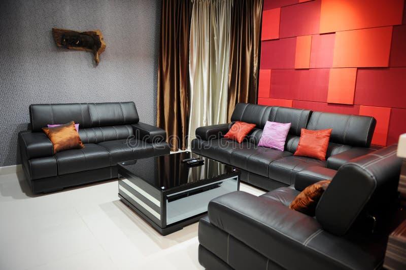 Modern Living Room. Living room with modern design stock photos