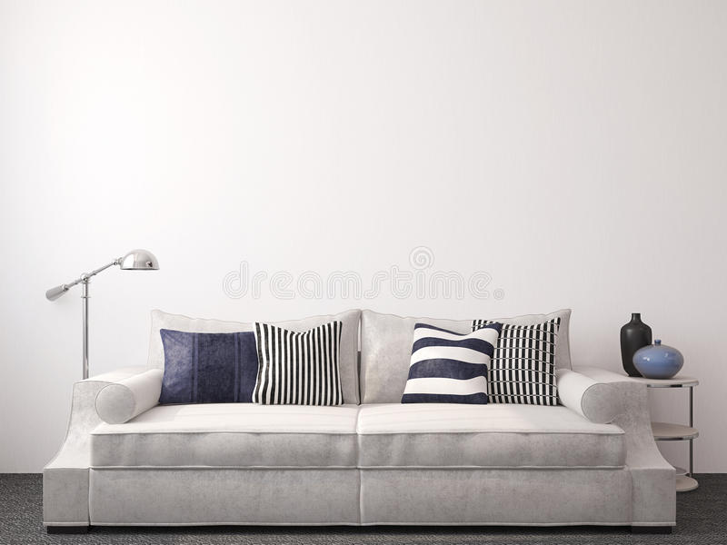 Modern living-room royalty free illustration