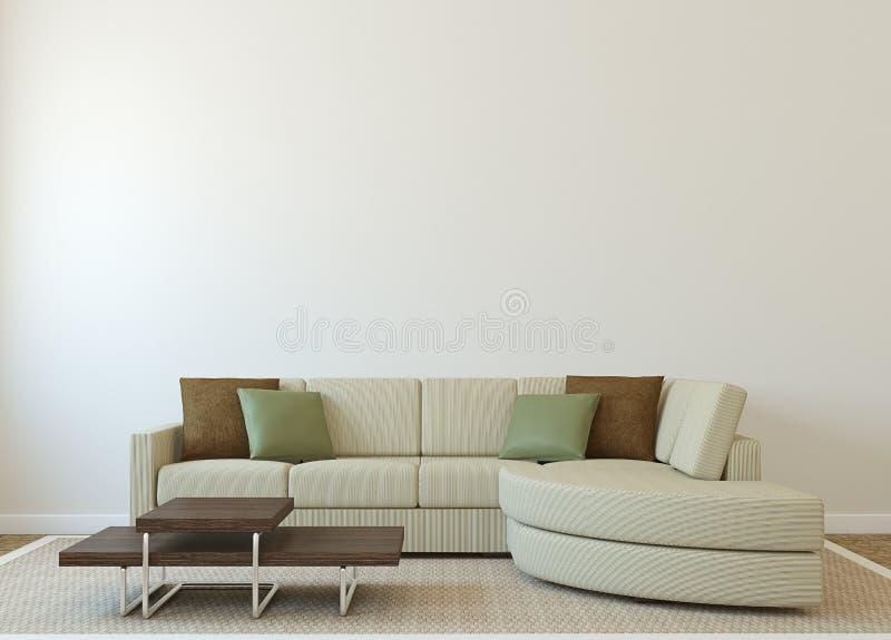 Modern living-room vector illustration