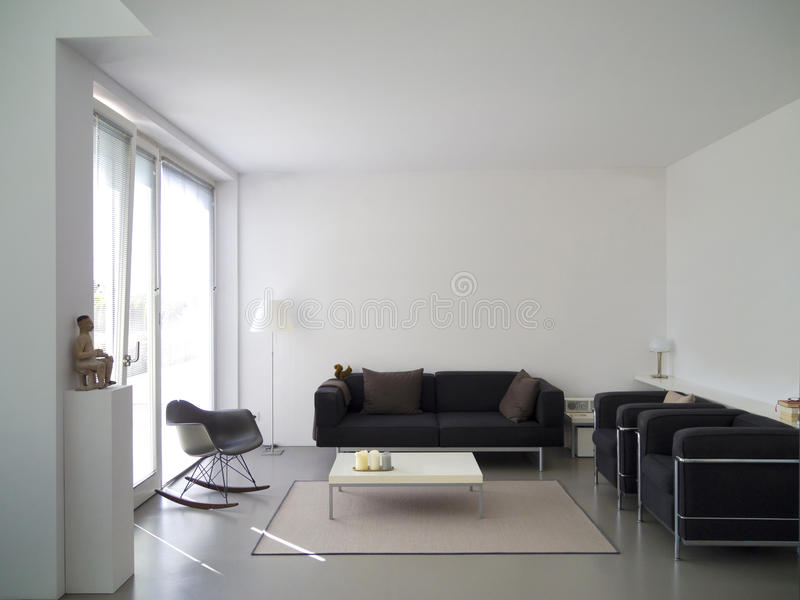 Modern living room with copy space royalty free stock image