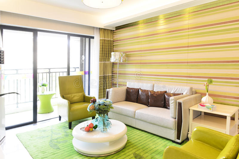 Modern living room. An image of a modern living room royalty free stock images