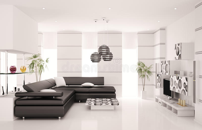 Download Modern Living Room Interior 3d Render Stock Illustration - Image: 17693190