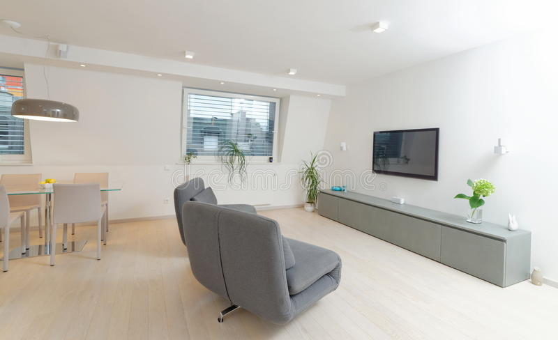 Modern living room interior stock images