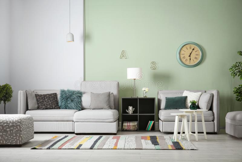 Modern living room interior royalty free stock images
