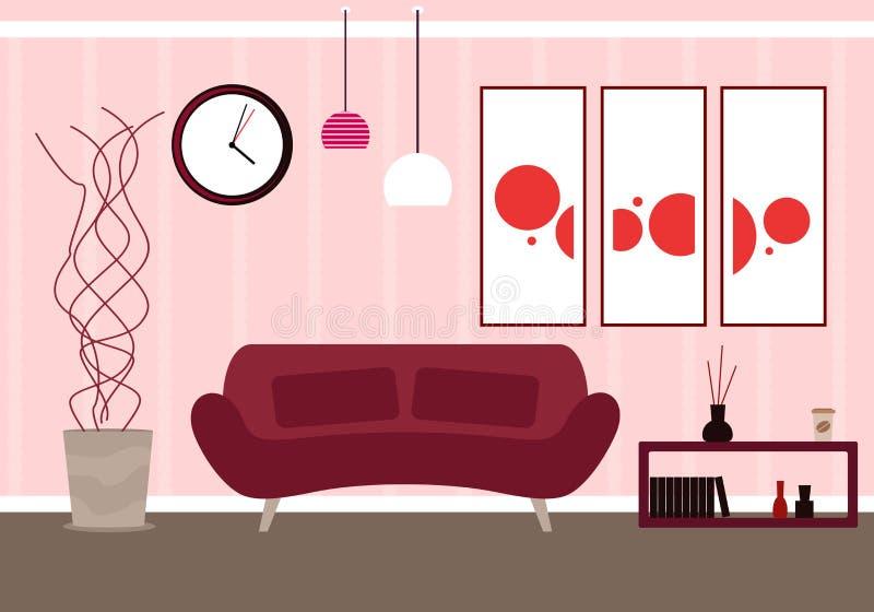 Modern living room stock vector. Illustration of livingroom - 95130119