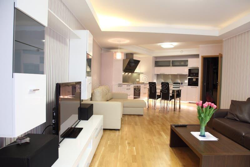 Modern livingroom stock photography