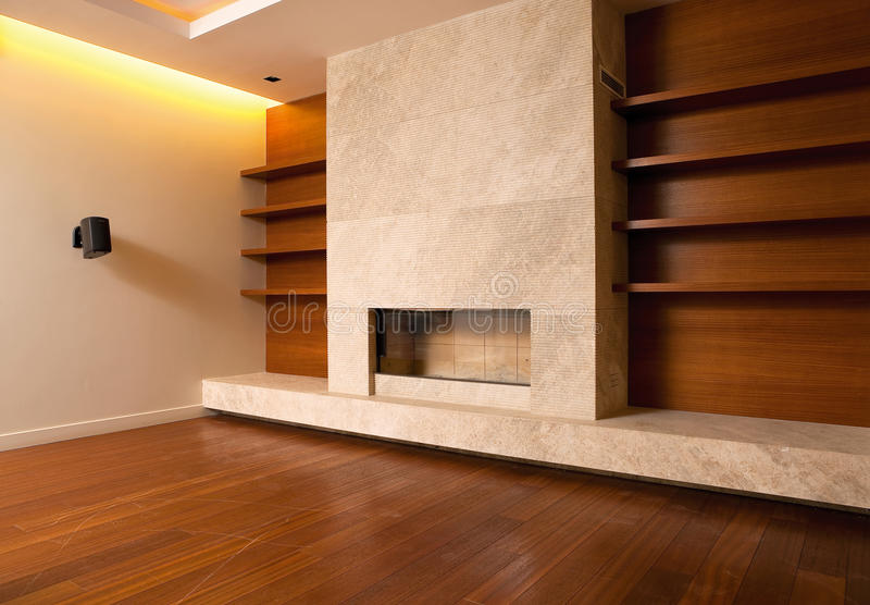Modern Livingroom Interior Stock Photography