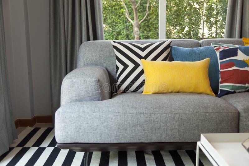 Modern livingroom with sofa royalty free stock photography
