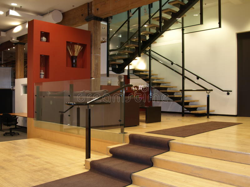 Download Modern Lobby Area stock photo. Image of plan, open, stairs - 24673558