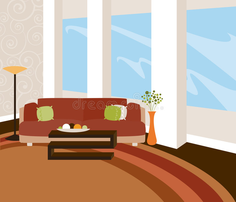 modern loft vektor illustrationer