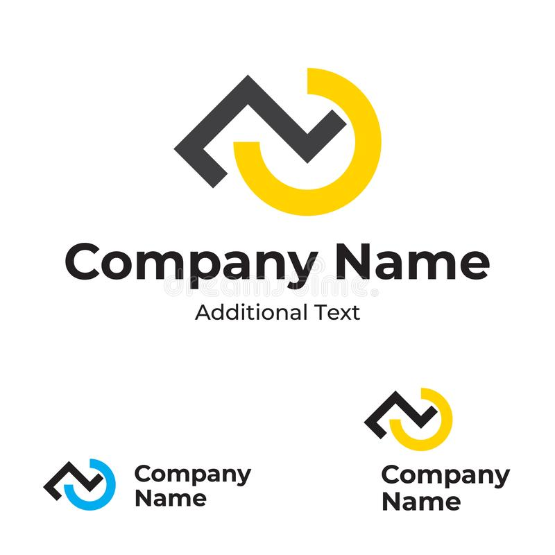 Modern Logo With Check Mark And Step Identity Brand Symbol Icon