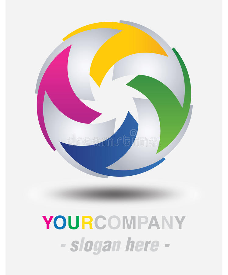 Modern logo design. For your company royalty free illustration