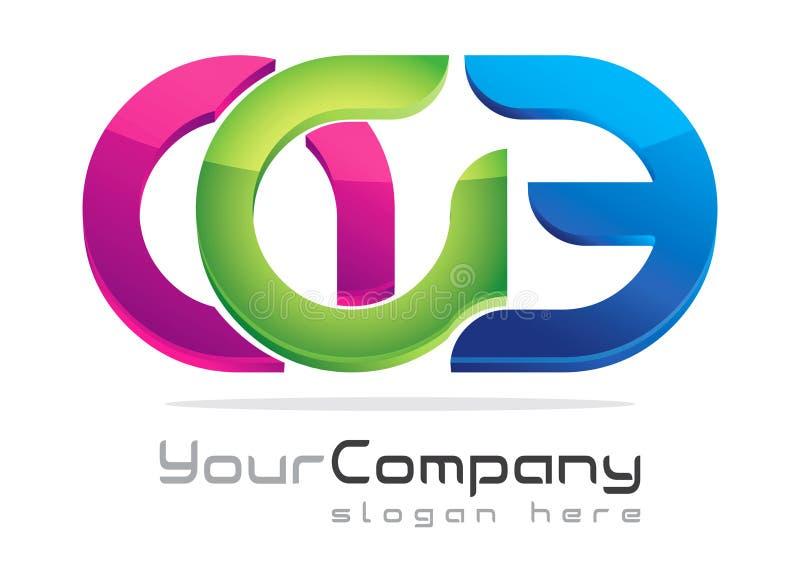 Modern logo design royalty free illustration