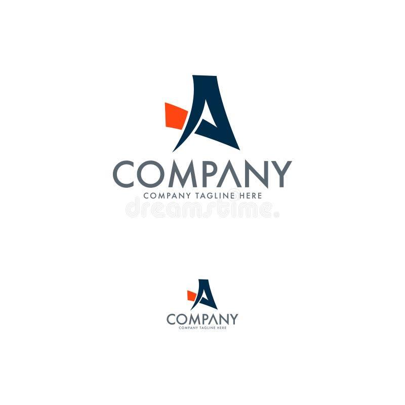 Modern logo för bokstav A Elit och modern logo Vektor för bokstäverlogodesign vektor illustrationer