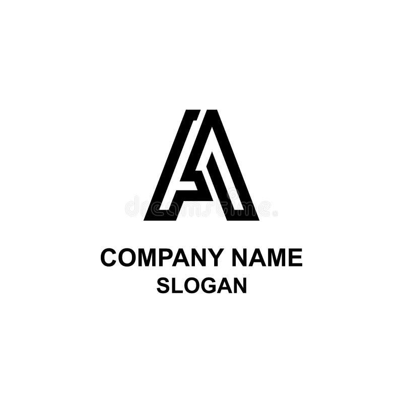 Modern logo för a-bokstavsinitial royaltyfri illustrationer