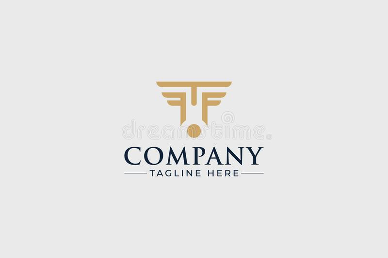 A modern logo for a Law Firm or other company. A modern logo gold grey for a Law Firm or other company vector illustration