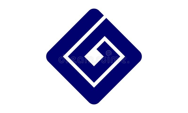 Modern Logo Solution Letter G stock illustratie
