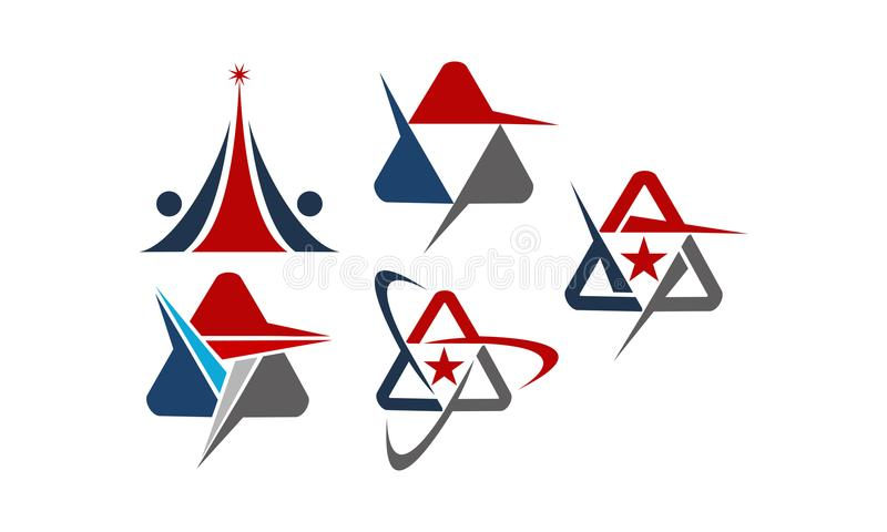 Modern Logo Solution Set Letter A stock illustratie