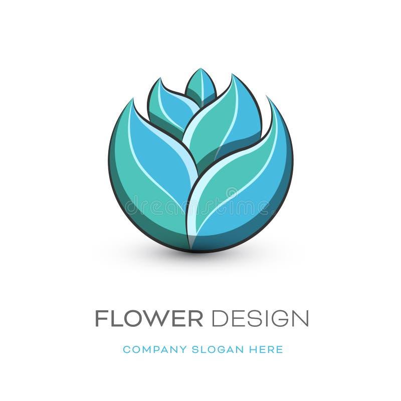 Modern logodesign för blomsterhandlare royaltyfri illustrationer