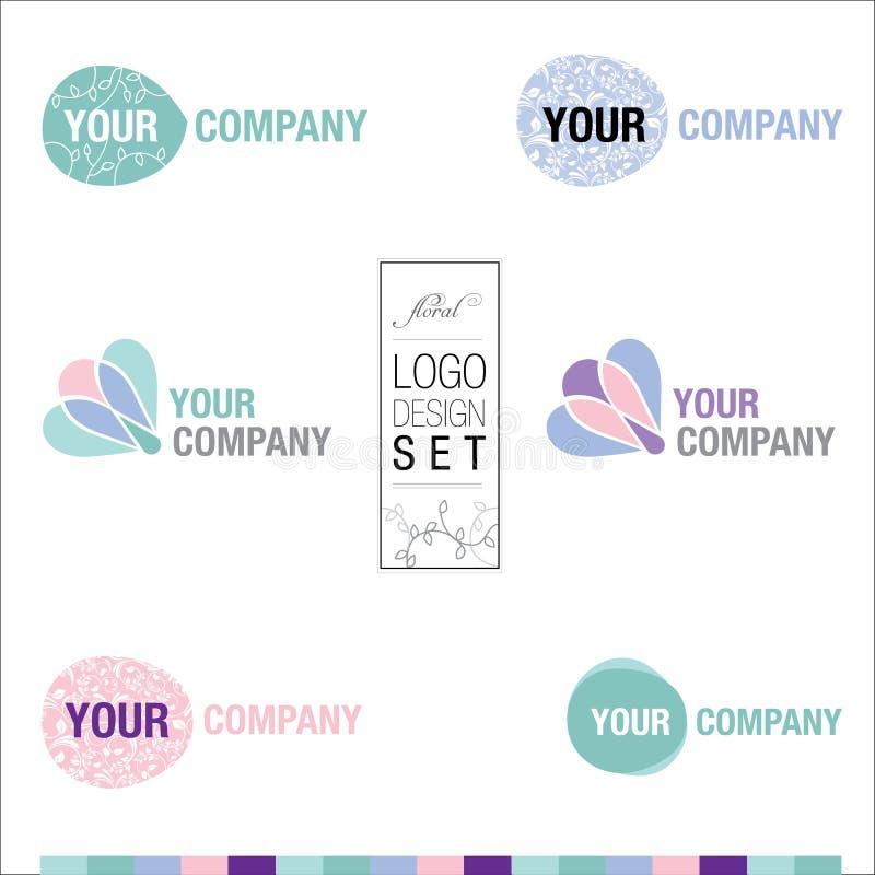 Modern logodesignuppsättning arkivfoton