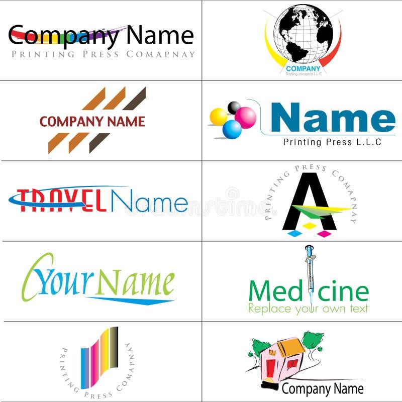 Modern Logos Collection Royalty Free Stock Image