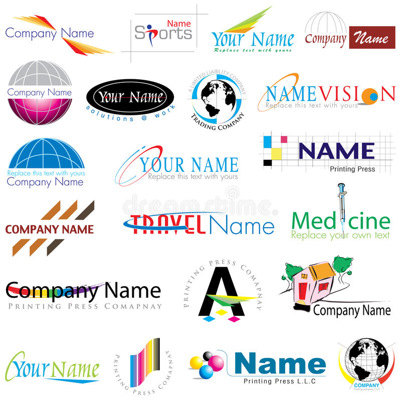 Modern Logos collection royalty free stock images