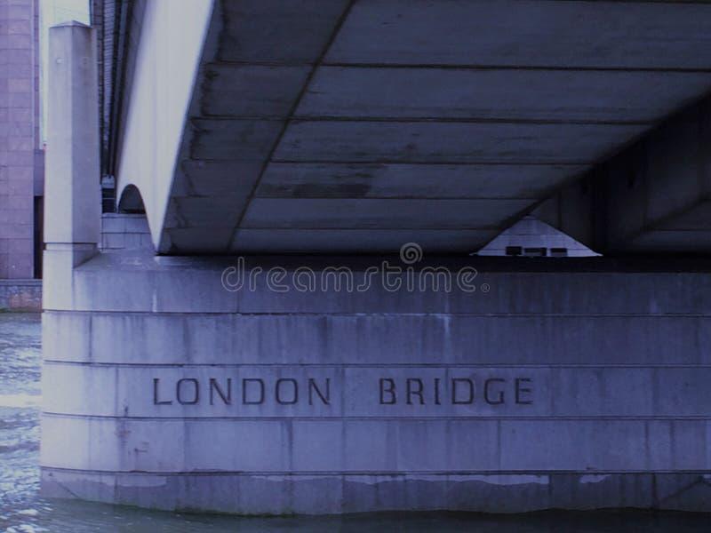 London Bridge - London, England UK. Modern London Bridge - The design represents a major post-World War II innovation in bridge engineering, but the bridge stock photo