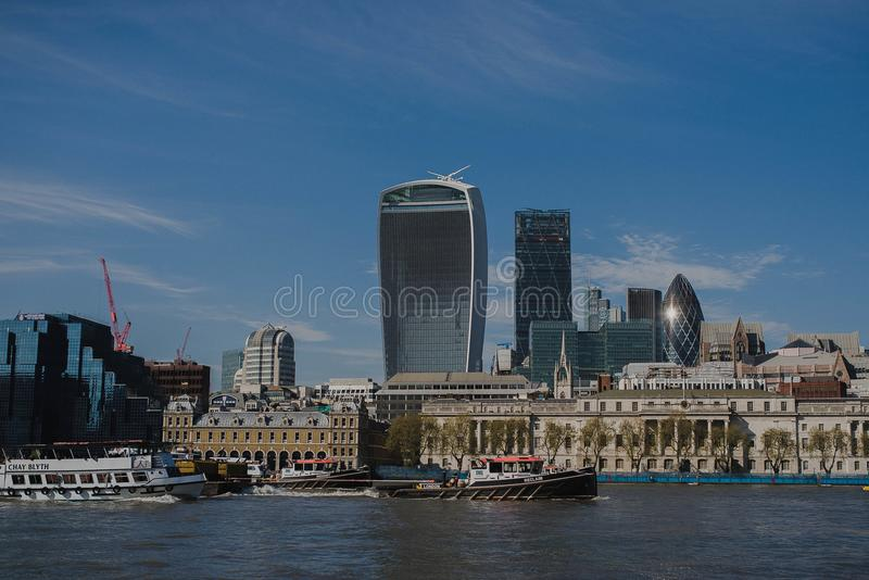 Modern London city panoramic view royalty free stock photos