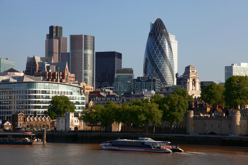 Download Modern London cityscape stock image. Image of business - 19622729