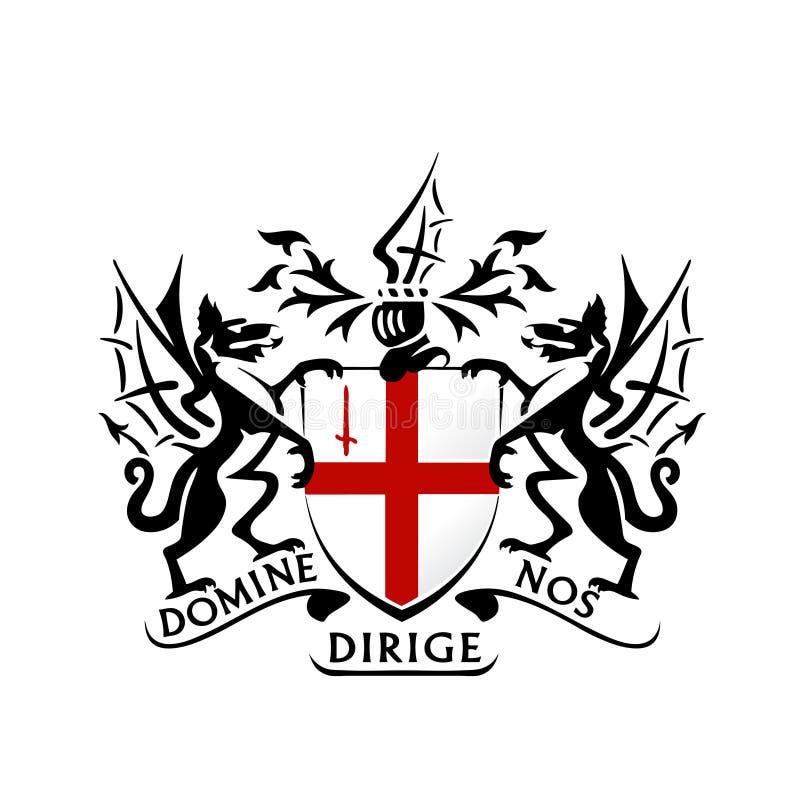 Modern london coat of arms vector stock illustration