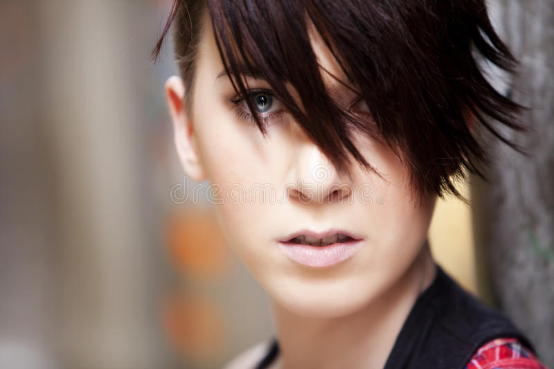 Modern looking girl portrait stock image