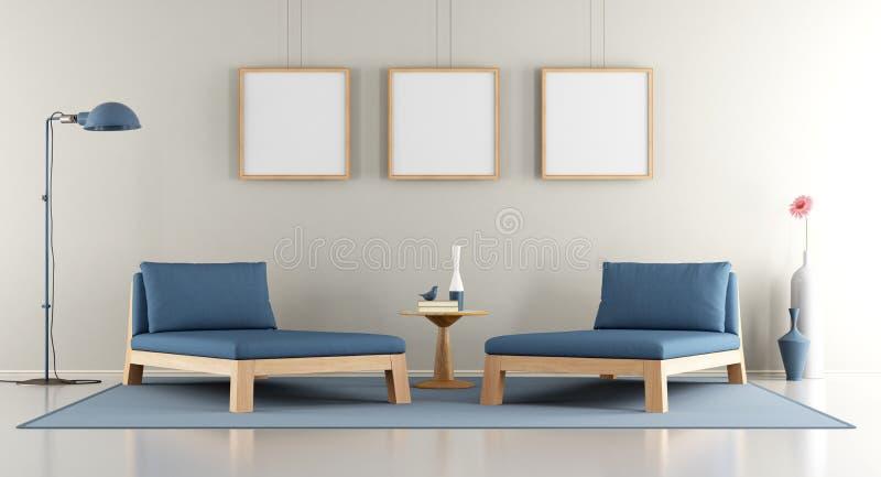 Modern Lounge Stock Illustration Illustration Of Book