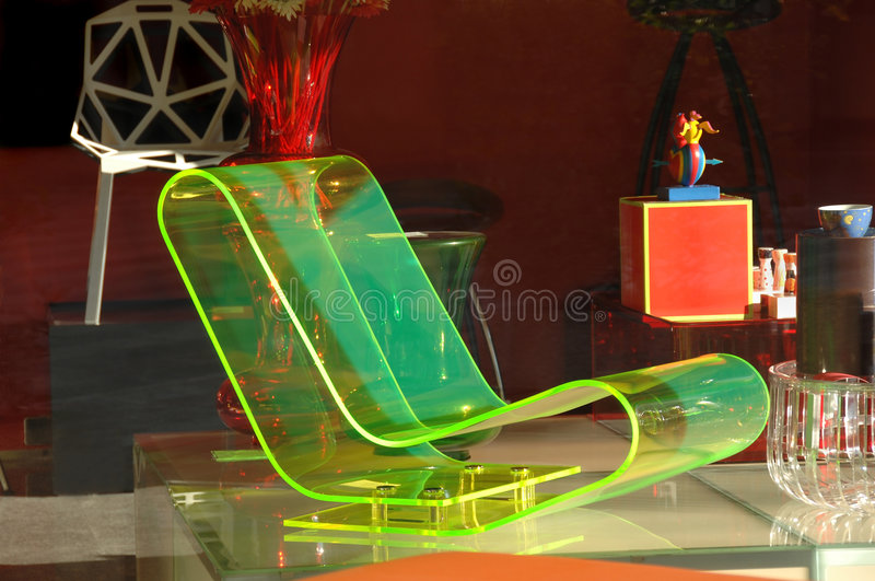 Modern and luminous chair royalty free stock photos