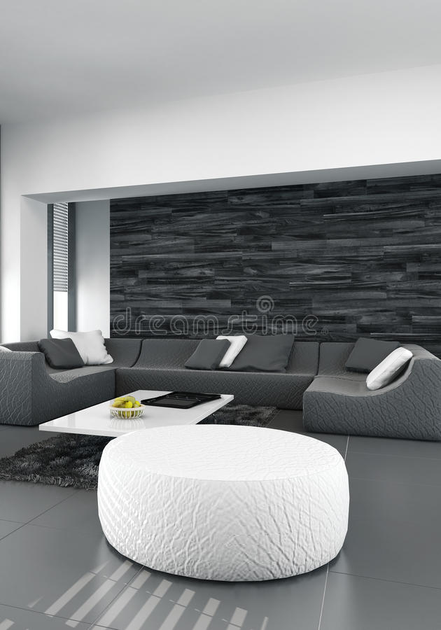 Modern luxurious living room interior stock illustration