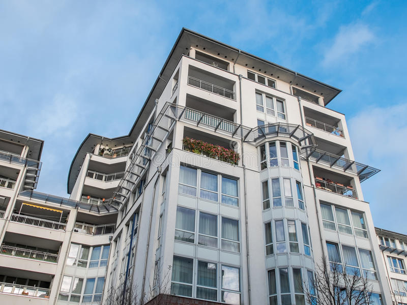 luxury apartments exterior. Download Modern Luxury Apartment Building With Blue Sky Stock Image  Of Balcony Exterior