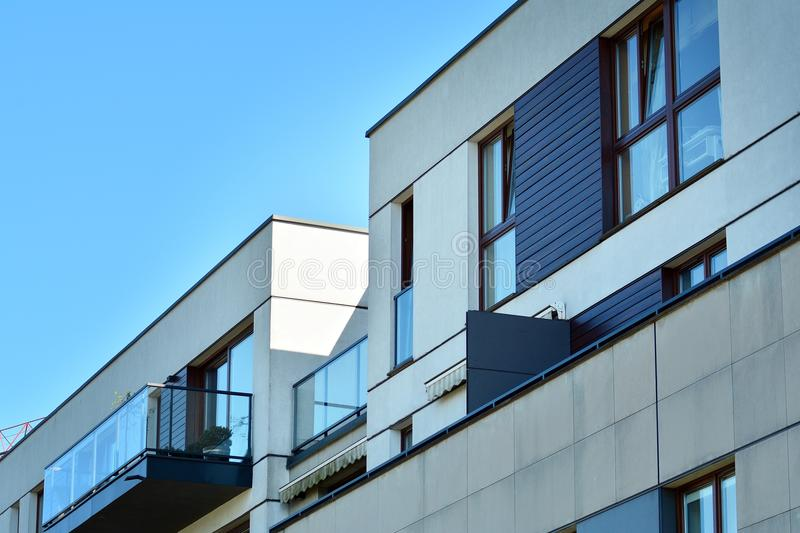 Download Facade Of A Modern Apartment Building. Stock Photo   Image Of House,  Complex