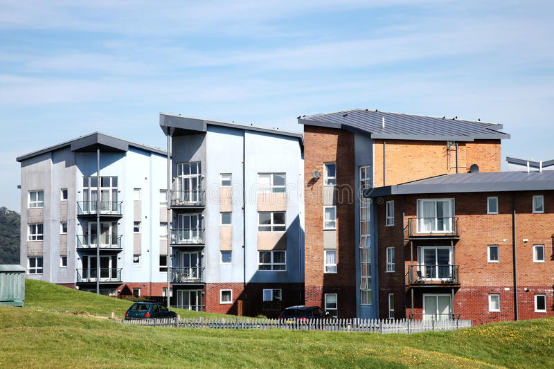 Modern luxury apartments. Modern luxury flat apartments in Llanelli, Carmarthenshire, Wales, UK stock image
