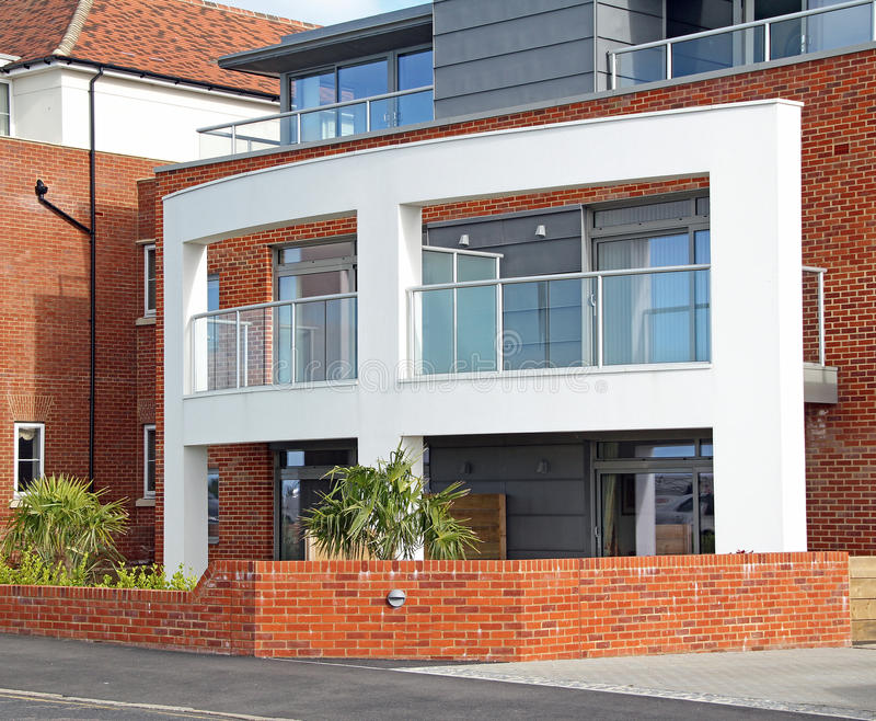 Modern luxury apartments. Photo of new modern apartments with a sea view located in tankerton whitstable kent. photo taken 16th june 2013 royalty free stock photography