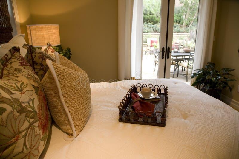 Modern luxury bedroom. royalty free stock image
