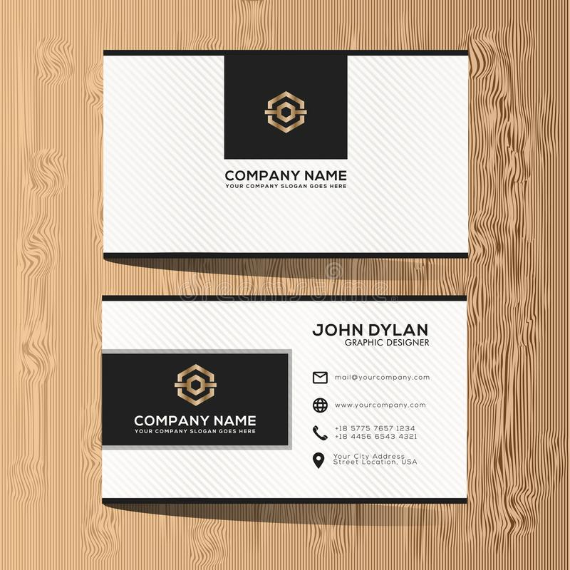 Modern And Luxury Business Card Template Premium Stock Illustration ...