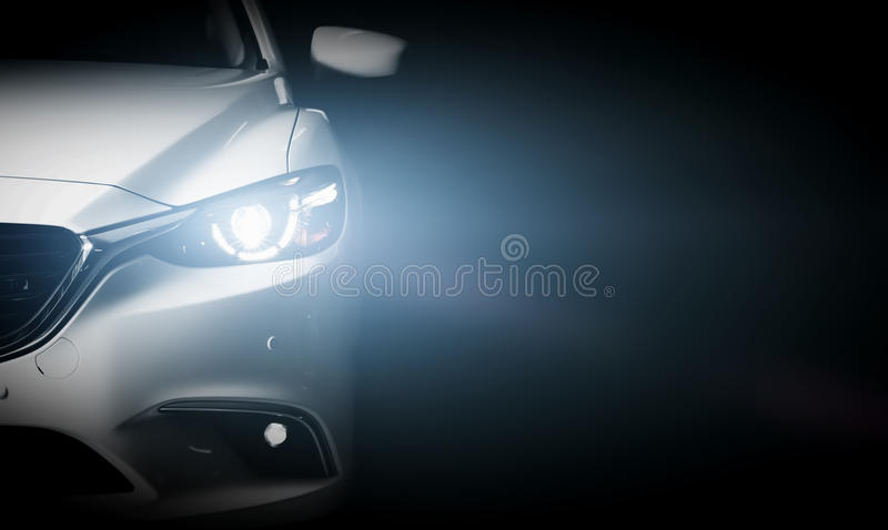 Modern luxury car close-up banner background royalty free stock images