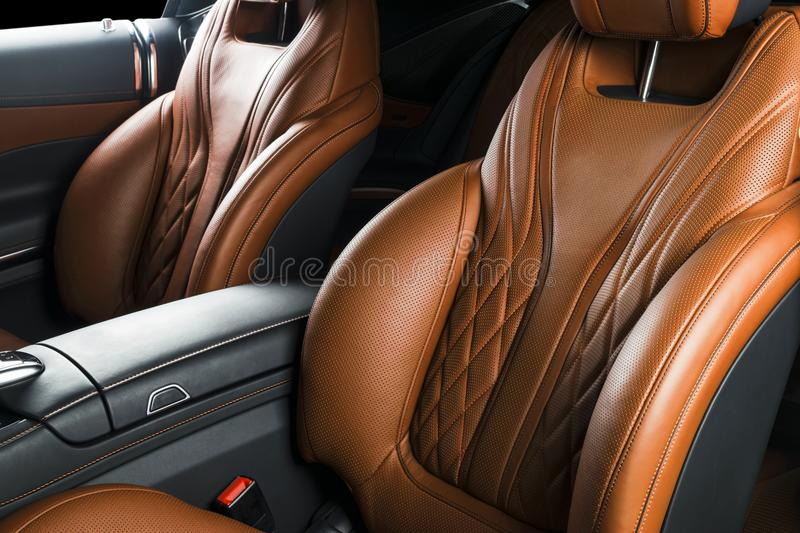 Modern Luxury car inside. Interior of prestige modern car. ComfoModern Luxury car inside. Interior of prestige modern car. Comfort. Modern Luxury car inside royalty free stock photos