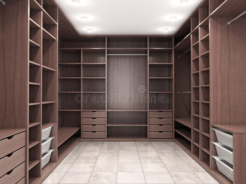 Modern luxury dressing room, wardrobe stock images