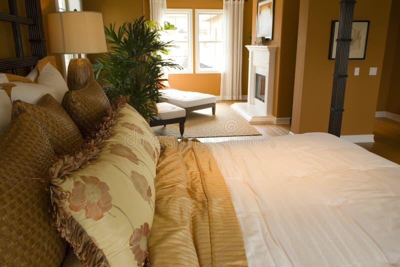 Modern luxury home bedroom. royalty free stock photo