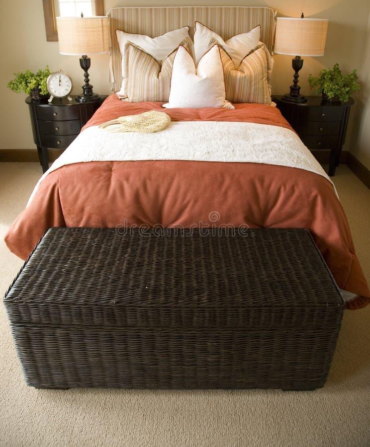 Modern luxury home bedroom. stock photography